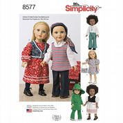 "8577 Simplicity Pattern: 18"" Doll Clothes"